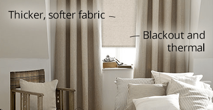 thermal luxe roller blinds for bedrooms