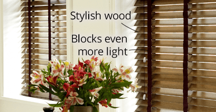 wood blinds for bedrooms