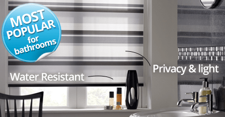 Bathroom Blinds Waterproof Blackout Blinds With Complete Privacy