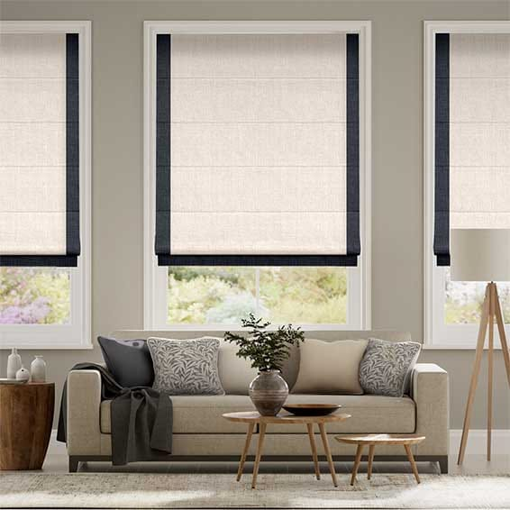 Accents Navy Roman Blind