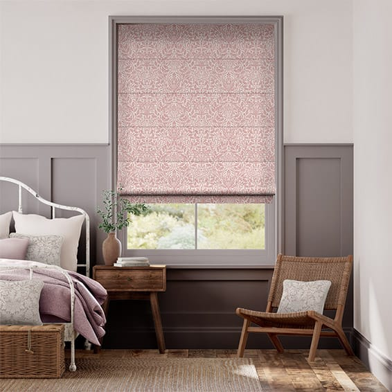 William Morris Acorn Vintage Rose Roman Blind