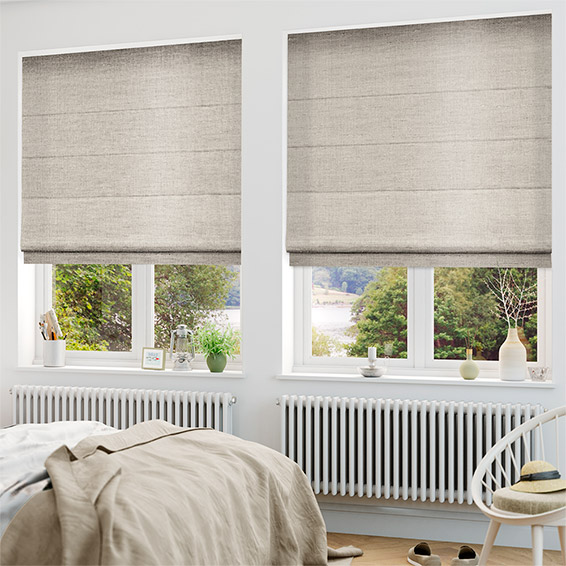 Ahisma Luxe Faux Silk Rose Gold Roman Blind
