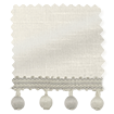 Ahisma Luxe Faux Silk Pearl & Stone Trimmed Roman Blind slat image