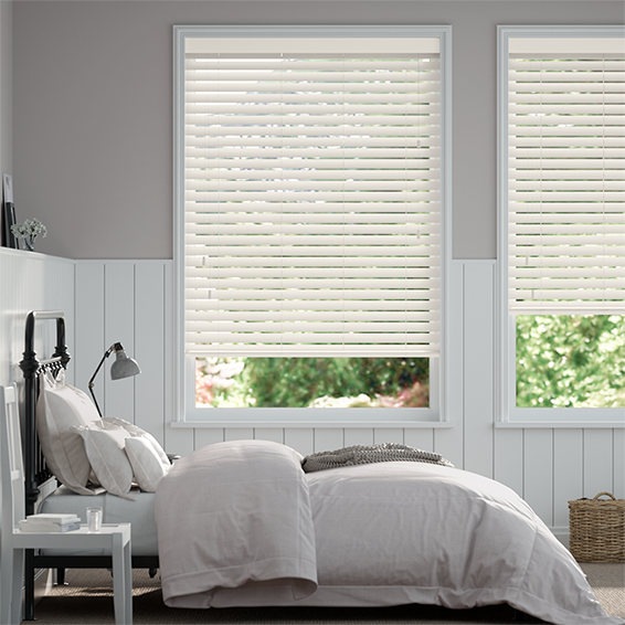 Alabaster Faux Wood Blind - 50mm Slat