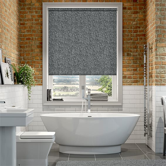 Alicante Marble Black Roller Blind