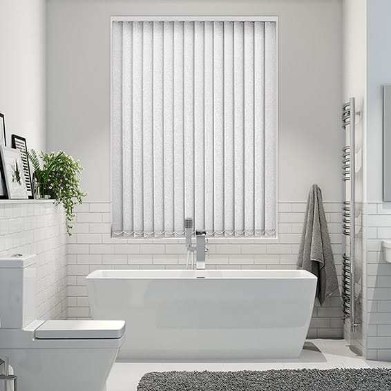 Alicante Marble White PVC Blackout Vertical Blind