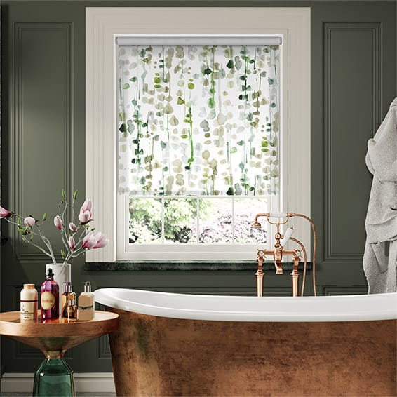 Alyssa Leaf Green Roller Blind