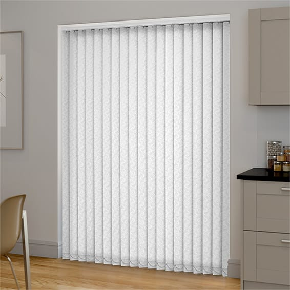 Amelia Blackout White Vertical Blind