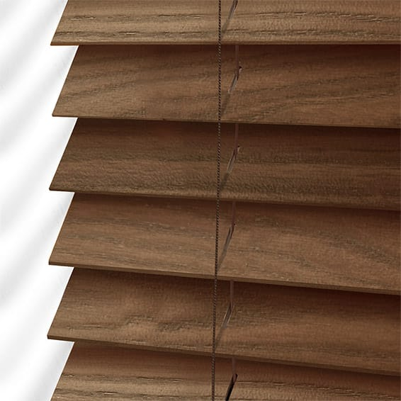 American Walnut Wooden Blind 50mm Slat