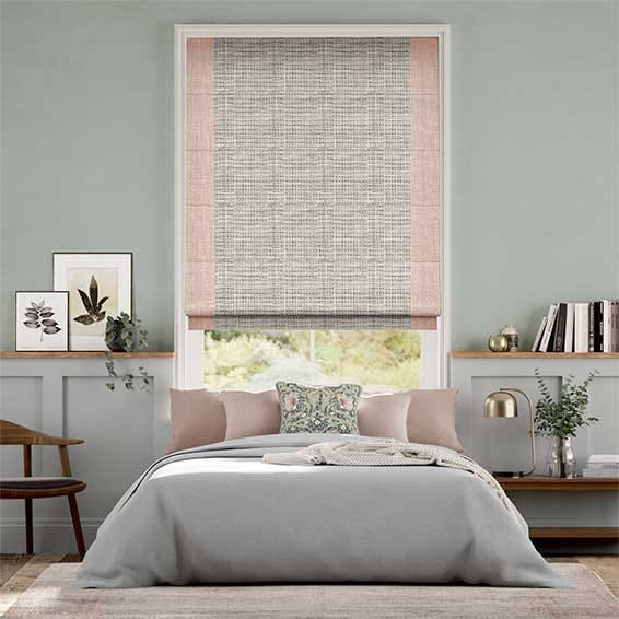Amy Soft Blush Roman Blind
