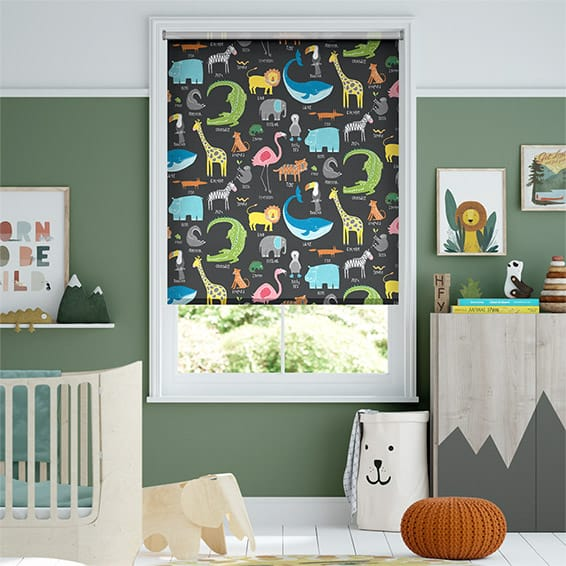 Animal Magic Blackboard Blackout Roller Blind