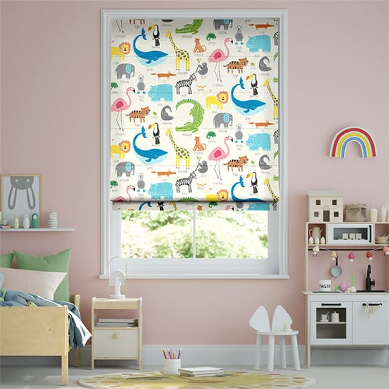Animal Magic Chalk Roman Blind