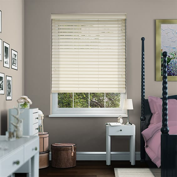 Antique White Wooden Blind - 50mm Slat