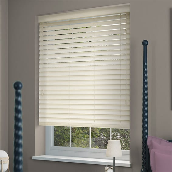 Antique White Wooden Blind 50mm Slat
