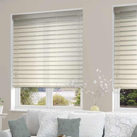 White Wooden Blinds 64mm Stunning Antique White Wooden