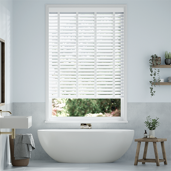 White Wooden Blinds Affordable Range Of Tailored Blinds 2go