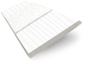 Arctic White & White Faux Wood Blind - 50mm Slat slat image