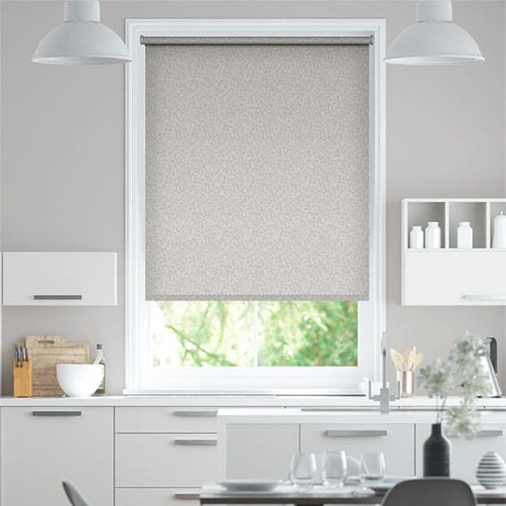 Argyle Blackout Winter Grey Roller Blind