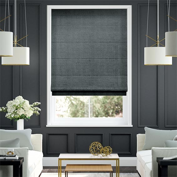 Luster Twilight Blue Roman Blind
