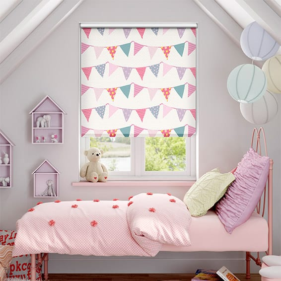 Baby Bunting Dainty Pink Blackout Roller Blind