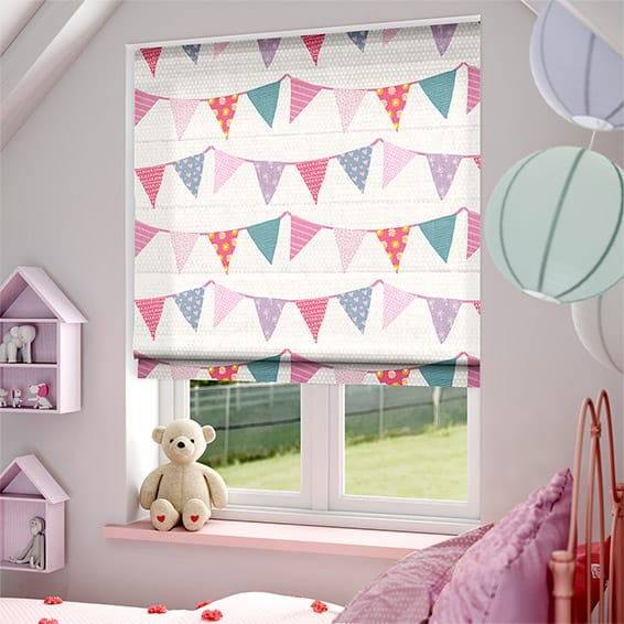 Baby Bunting Dainty Pink Roman Blind Design Ideas