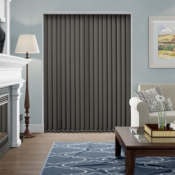 Barcelona Palisade Grey Vertical Blind