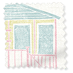 Beach Huts Heather Roller Blind slat image