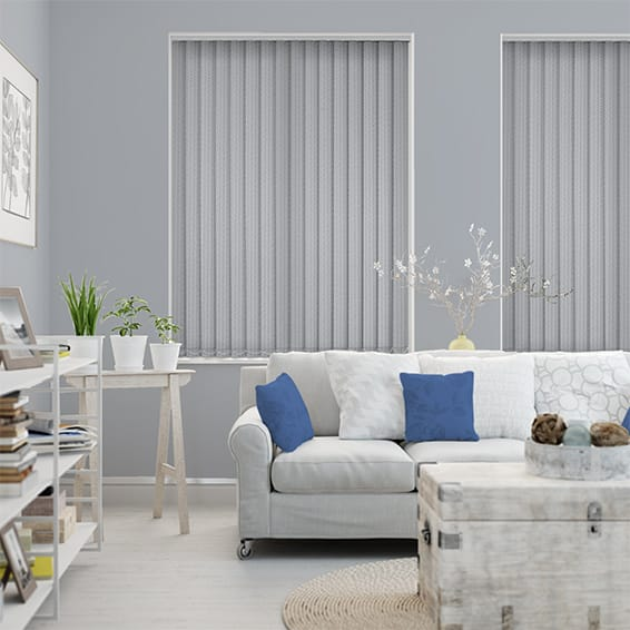Bengal Stripe Designer Grey Vertical Blind