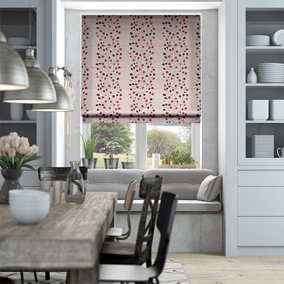 Berry Tree Mini Plum Roman Blind