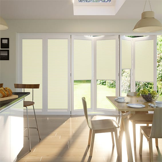 BiFold ClickFIT DuoLuxe Buttermilk Pleated Blind