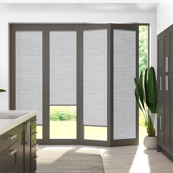 BiFold ClickFit Premier Argent Pleated Blind
