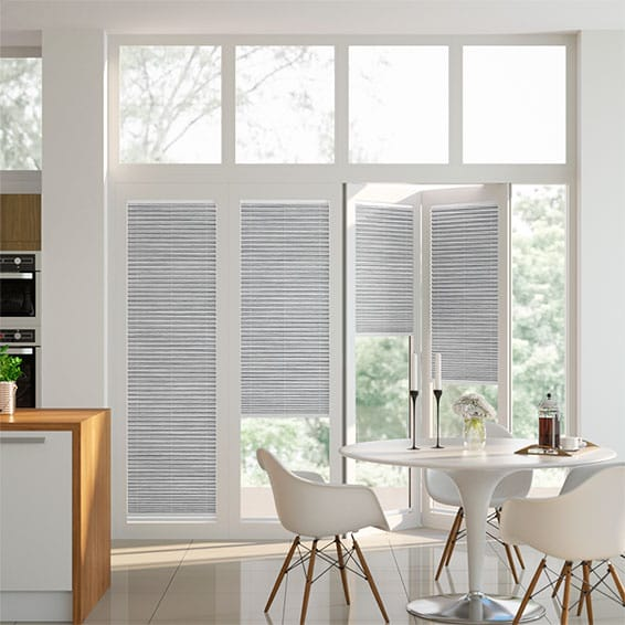 BiFold ClickFit Premier Silver Pleated Blind