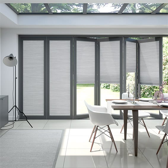BiFold ClickFIT Supreme Silver Pleated Blind