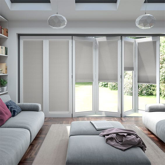 BiFold ClickFIT Dove Grey Pleated Blind