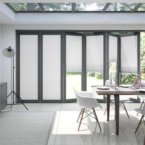 BiFold ClickFIT Pure White Pleated Blind