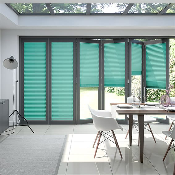 BiFold ClickFIT Tropical Green Pleated Blind