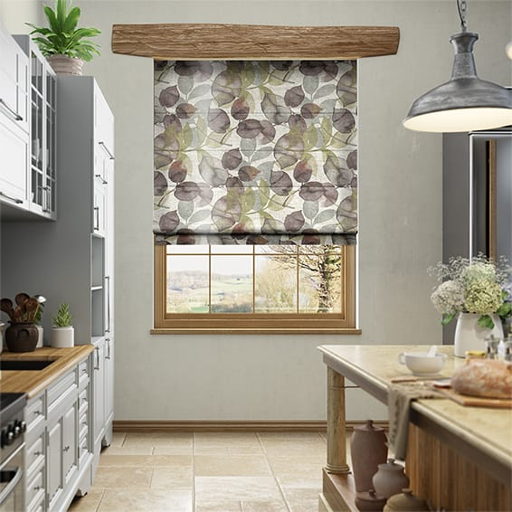 Blakely Faux Silk Merlot Roman Blind