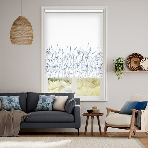 Blowing Grasses Blue Roller Blind