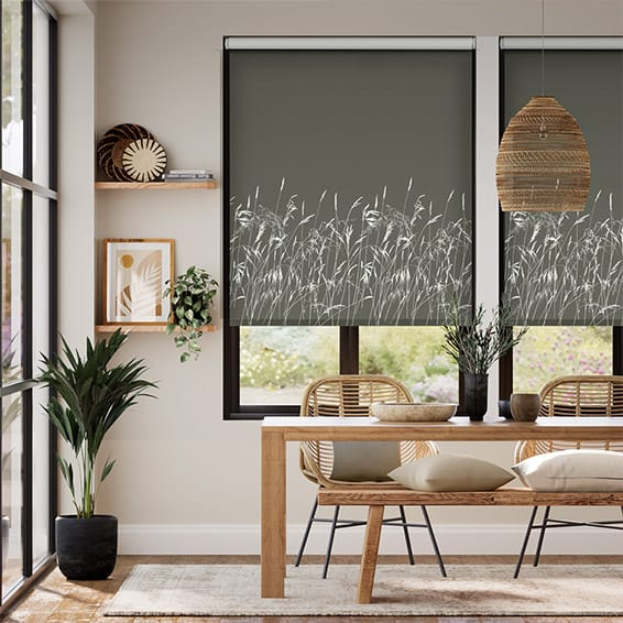Blowing Grasses Storm Roller Blind