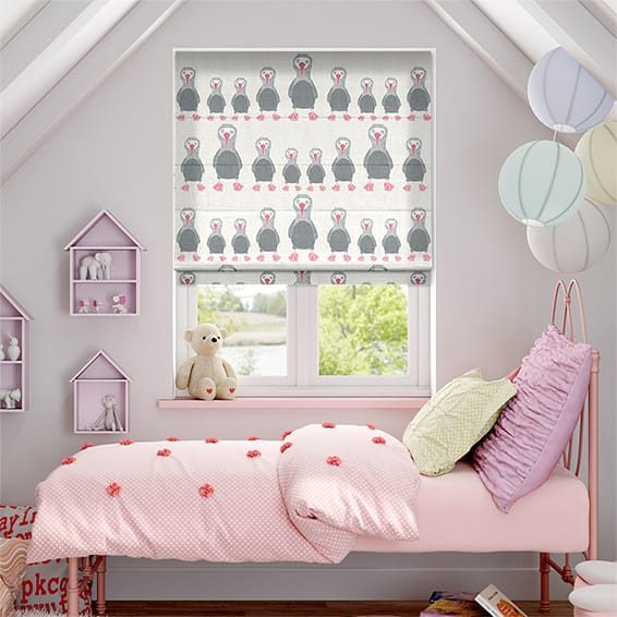 Booby Bird Bubblegum Roman Blind