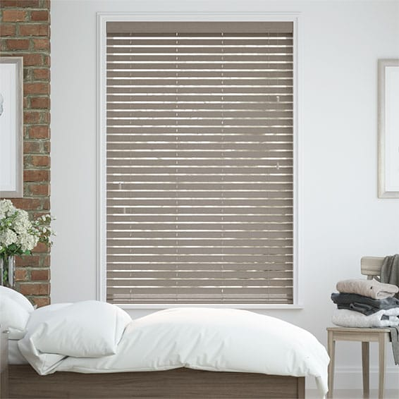 Metropolitan Boulder Grey Wooden Blind - 50mm Slat
