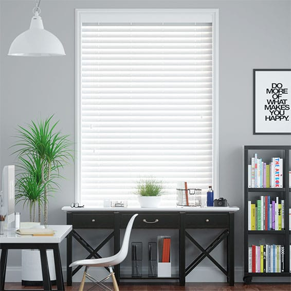 White Wooden Venetian Blinds, Beautiful Shades of White by Blinds 2go™