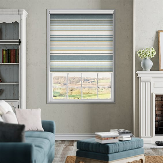 Calcutta Stripe Blue Mist Roller Blind