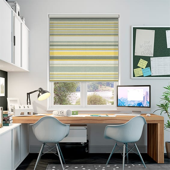 Calcutta Stripe Sunshine Roller Blind