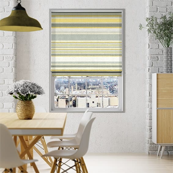 Calcutta Stripe Sunshine Roman Blind