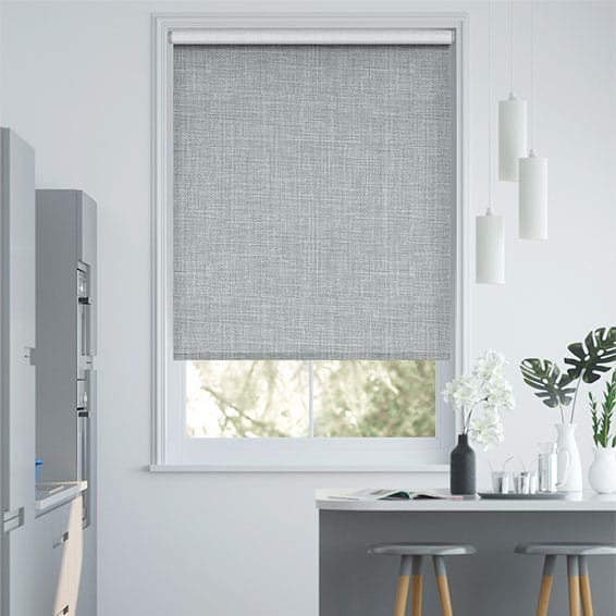 Canali Silver Grey Blackout Roller Blind