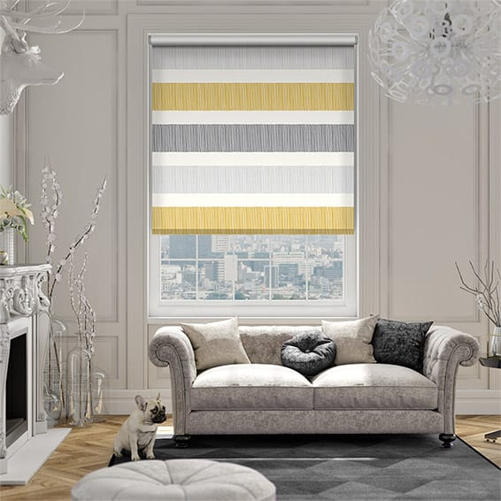 Cardigan Stripe Flax Grey Roller Blind