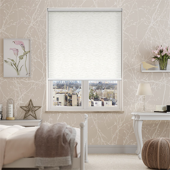 Caress Ivory Blackout Roller Blind