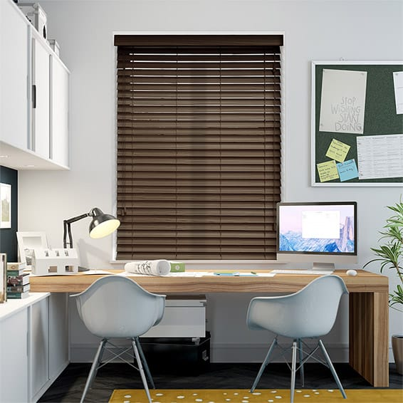 Caribbean Walnut Wooden Blind - 50mm Slat