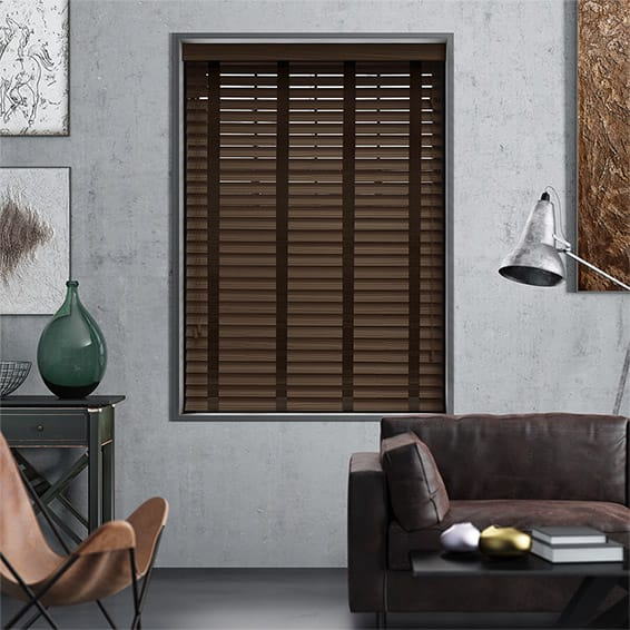 Caribbean Walnut & Cocoa - 50mm Slat